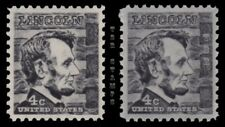 1282 1282a Abraham Lincoln 4c Prominent Americans Variety Set of 2 MNH - Buy Now