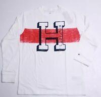 New Tommy Hilfiger Boys White long Sleeved T-Shirt Boys XL