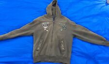 Ninety Six North Men's L Brown Army Themed Zipped Sweat W/Hood. Check Pictures!