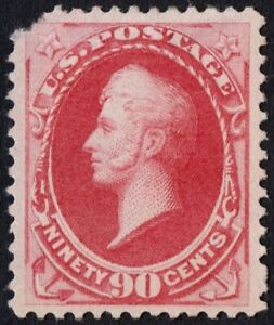 """US Sc# 155 *MINT NG H* { -VF- CENTERED 90c PERRY } """"SCARCE OF 1870 CV$ 1,900.00"""