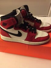 Nike Air Jordan 1 Retro High Og BG Youth Shoes University Red/ Black Wht Size 6Y