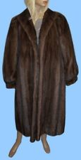 size 12 or Medium DARK RANCH MINK FUR COAT - Mackenzie River mink- NICE !