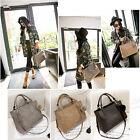 Women Purse Fur Ball Handbag Messenger Suede Leather Ladies Shoulder Tote Bag