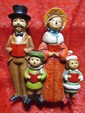 "VINTAGE 1950s MID CENTURY VICTORIAN FAMILY CHRISTMAS CAROLERS FIGURINE 10"" JAPAN"