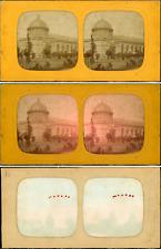 Stéréo, Allemagne, Karlsruhe, jardin botanique vintage stéréo card tissue, carte