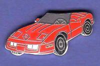 CORVETTE 86 CAR RED HAT PIN LAPEL TIE TAC ENAMEL BADGE #0929