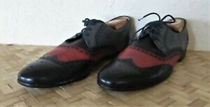 $750. authentic GUCCI Italy MENS SHOES Black LEATHER Oxfords 10.5 US