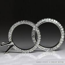 MICHAEL B. PARIS 3 SIDED PAVE DIAMOND ETERNITY ENGAGEMENT RING SETTING & BAND