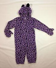 Halloween Costume Purple Leopard Purim Winter Outfit 12 24 mos Miniwear Fleece