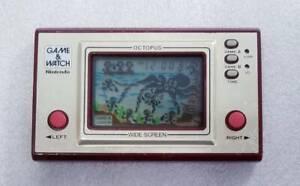 Nintendo Game Watch Octopus WIDE SCREEN OC-22 1981 Excellent  japan rare