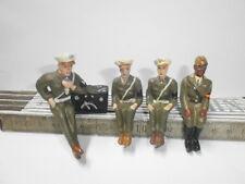 4 Fröha Sitzsoldaten Amerikaner für Arnold Jeep und andere Kraftfahrzeuge zu 7cm
