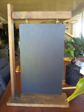 Hanging Sign Style Chalkboard and Timber Stand Restaurant Menus Cafe Bar Bistro