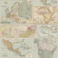 HOLDEN Globetrotter MUNDO MAPA estampado fondo de Pantalla Vintage Atlas