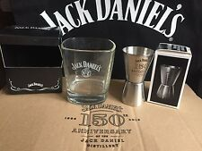 JACK DANIELS TUMBLER  GLASS FROM 2015 + 150TH ANNIVERSARY SHOT MEASURE FROM2016