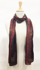Warrina Designs 100% Silk Scarf Authentic Australian Aboriginal Design Art Creek