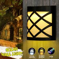 LED Énergie Solaire Lampe Murale Mouvement Capteur Étanche Extérieur Sécurité H