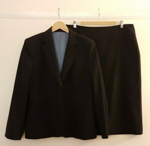 AUSTIN REED Ladies Smart Navy Skirt Suit 16/18