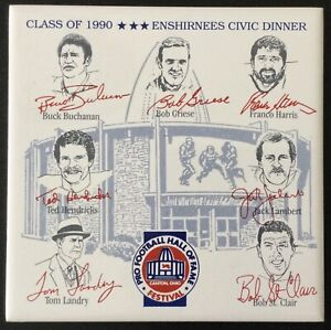 Class of 1990 Pro Football Hall of Fame HOF Enshirnees Civic Dinner Plaque NFL