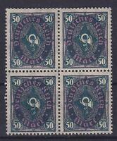 DR Mi Nr. 209Wb ** 4er Block, Infla Posthorn Dt. Reich 1922, postfrisch, MNH