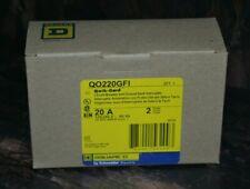 Square D Qo220gfi 2 Pole 20 Amp Ground Fault Circuit Breaker New