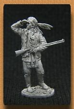 """Tin soldiers """" wild West """"(54 mm, 1/32) # ww -26 American Indian with a gun"""