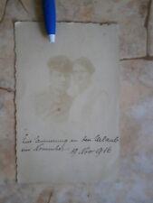 1916 Wwi Wki Germany Ww1 Army Officer Wife Photo Military Picture Deutsche Armee