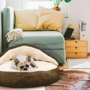 Pet Cave Snuggly Cozy Orthopedic Round Soft Bed for Small Dog or Cat