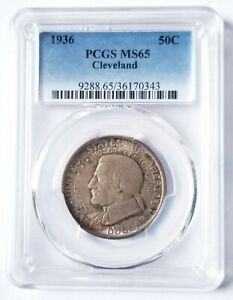 1936 PCGS MS65 CLEVELAND COMMEMORATIVE HALF DOLLAR BEAUTIFUL NICE COIN!