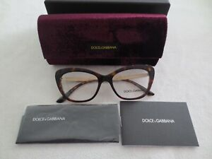 Dolce & Gabbana brown tortoiseshell cat's eye glasses frames. DG 3275-B 502.New