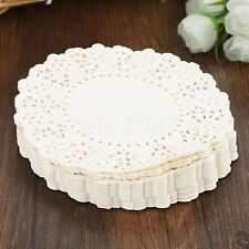 """4.5"""" Round Flower Paper Lace Doilies for Cake Baking Party Card Making 140pcs"""