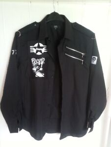 The CLASH*PUNK*ZIP SHIRT*   barely worn  - in GREAT SHAPE!