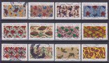 France 2019 : les 12 timbres du Carnet - Inspiration africaine - Tissu - oblitér