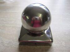 Pfostenkappen Pfostenabdeckung Zaunkappen Edelstahl Kugel 91 x 91  mm