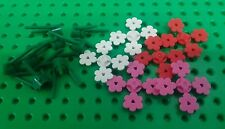 *NEW* Lego Bulk Flowers Red White Dark Pink Green Stems for Garden Forest Pack
