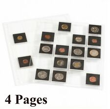 4 Lighthouse Grande Encap Pages for 2x2 Coin Holder BCW Snaplock / Quadrum