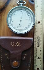 VINTAGE US TAYLOR HANDHELD ALTIMETER COMPENSATED FOR TEMPERATURE