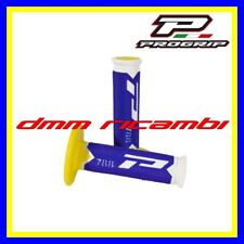 Manopole Cross PROGRIP 788 Moto Scooter PitBike Enduro Motard Blu Giallo Bianco