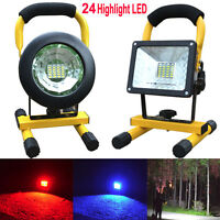 30W 24 LED Rechargeable Flood Light Spot Site Portable Work Camping Fishing Lamp