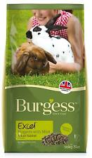 BURGESS Excel Rabbit Junior & Dwarf Rabbit Food Feed 2kg Nugget Non Selective