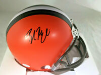 BAKER MAYFIELD / CLEVELAND BROWNS / AUTOGRAPHED BROWNS RIDDELL MINI HELMET / COA