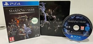 PS4 & PlayStation 5 - Middle-Earth: Shadow of War Steelbook Silver Edition