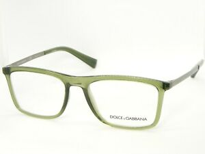 NEW D&G Dolce&Gabbana DG 5023 3068 TRANSPARENT GREEN EYEGLASSES FRAME 54-18-150