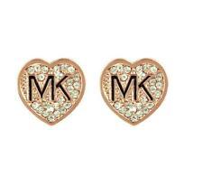 New M @@ K round diamond stud earrings small Heart-shaped gold