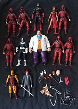 Marvel Legends DareDevil lot of 12 with custom Matt Murdock action figure!