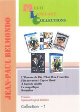 Jean-Paul Belmondo. Collection 1. Optional English subtitle. 5 movies. 2 DVD set