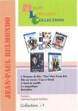 Jean-Paul Belmondo. Collection 1. Optional English subtitle. 5 movies. 2 DVD set