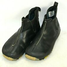 Simple Brand Leather Chelsea Pull On Ankle Boots Womens Size 6.5 M Black 9113
