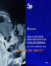 NEW Barbri Bar Exam CALIFORNIA Conviser Mini Review 2018-2019-FREE SHIPPING -CMR