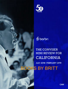 NEW 2019 Barbri Bar Exam CALIFORNIA Conviser Mini Review -  Priority Ship - CMR