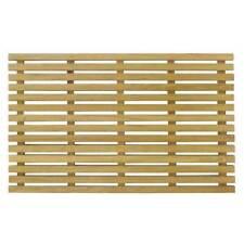 Pool Shower Wooden Non Slip Bath Mat Timber Slat Bathroom Board 65cm x 40cm